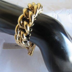 Chunky gold chain bracelet Monet